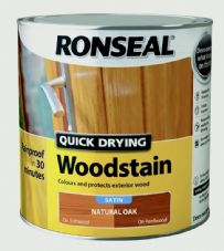 Ronseal Quick Drying Woodstain Satin 2.5L - Natural Oak